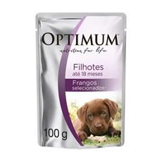 Ração Úmida Optimum Sachê Cães Filhotes Frango – 100g