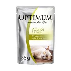 Ração Úmida Optimum Sachê Gatos Adultos Frango – 85g