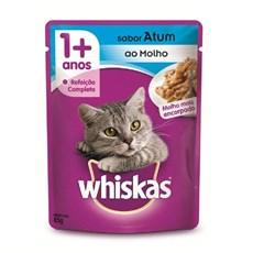Racao Umida para Gatos +1 Ano Atum 85g Whiskas