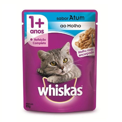 Ração Úmida para Gatos +1 Ano Atum 85g Whiskas