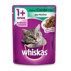 Ração Úmida para Gatos +1 Ano Cordeiro ao Molho 85g Whiskas