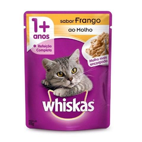 Ração Úmida para Gatos +1 Ano Frango ao Molho 85g Whiskas