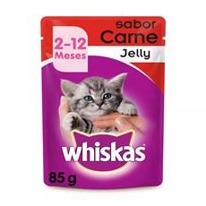 Ração Úmida para Gatos Filhotes Carne ao Molho 85g Whiskas