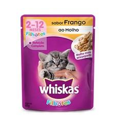 Ração Úmida para Gatos Filhotes Frango ao Molho 85g - Whiskas