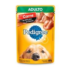 Ração Úmida Pedigree Sachê Cães Ad. Carne ao Molho – 100g