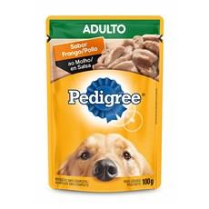 Ração Úmida Pedigree Sachê Cães Ad. Frango ao Molho – 100g
