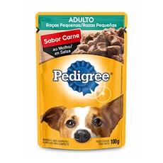 Ração Úmida Pedigree Sachê Cães Ad RP. Carne ao Molho – 100g