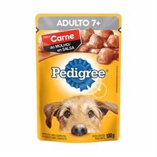 Ração Úmida Pedigree Sachê Cães Ad. Sênior Carne ao Molho – 100g