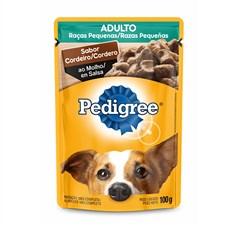 Ração Úmida Pedigree Sachê Cães Adultos RP. Cordeiro – 100g