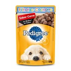 Ração Úmida Pedigree Sachê Cães Fil. Carne ao Molho – 100g