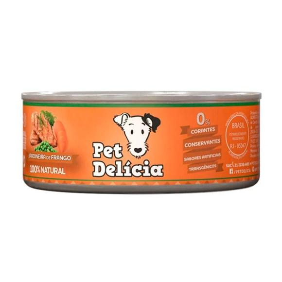 Ração Úmida Pet Delícia Cães Adultos Jardineira Frango -110g