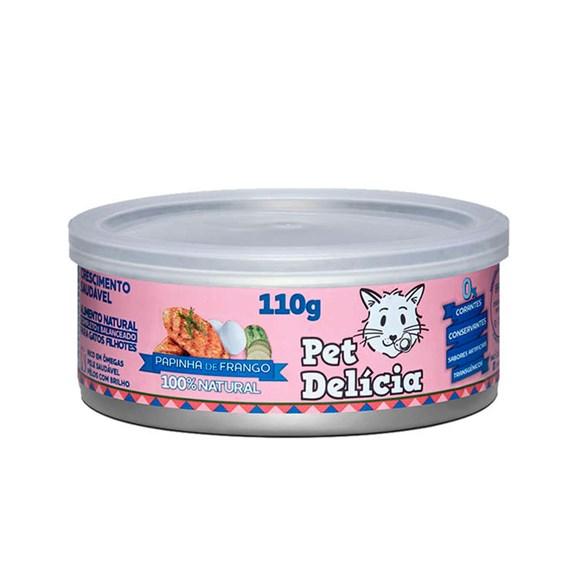 Ração Úmida Pet Delícia Gato Papinha de Frango - 110g