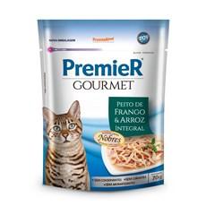 Ração Úmida Premier Gourmet para Gatos Frango e Arroz 70 g
