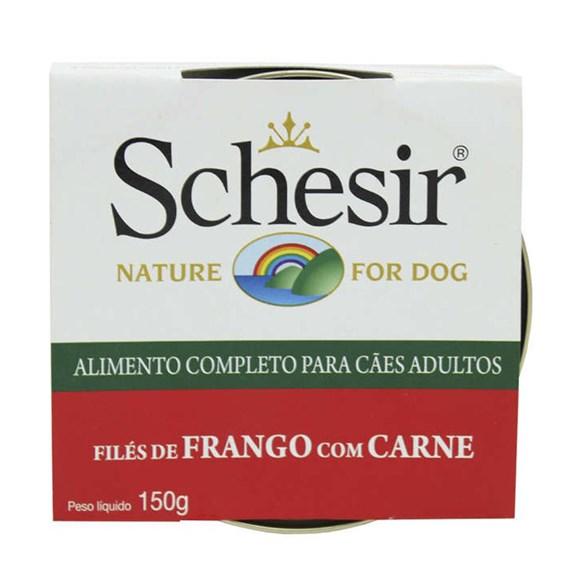 Ração Úmida Schesir Patê Cães Filé de Frango c/ Carne - 150g