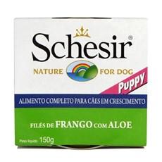 Ração Úmida Schesir Patê Cães Filhotes Frango c/ Aloe - 150g