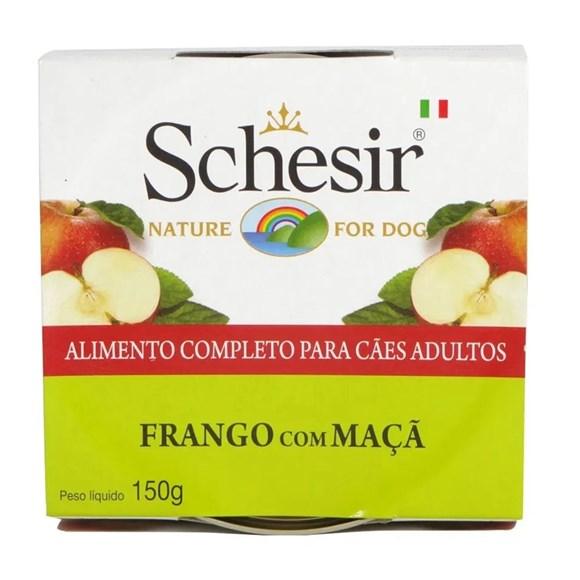 Ração Úmida Schesir Patê Cães Frango c/ Maçã - 150g