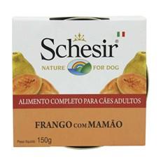 Ração Úmida Schesir Patê Cães Frango c/ Mamão - 150g