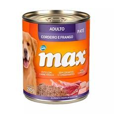 Ração Úmida Total Max Lata Cães AD. Cordeiro/Frango - 280g