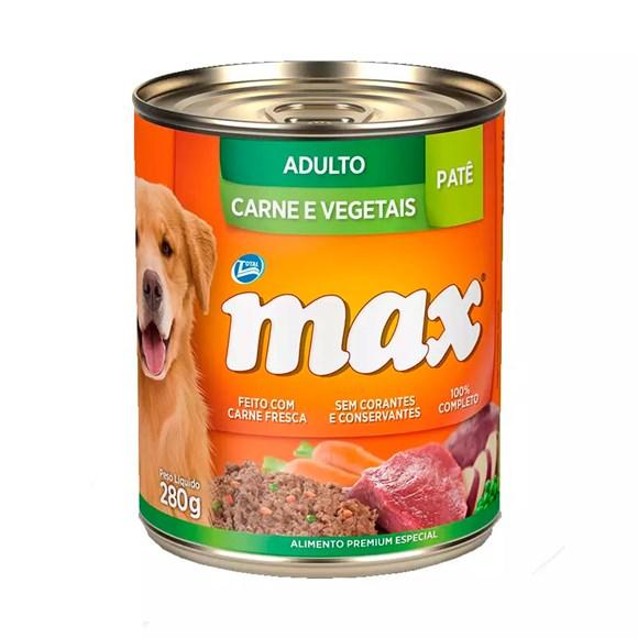 Ração Úmida Total Max Lata Cães Adultos Carne/Veg - 280g