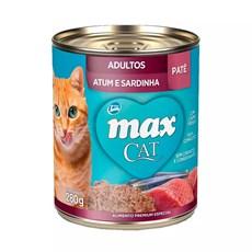 Ração Úmida Total Max Lata Gatos AD. Atum/Sard - 280g