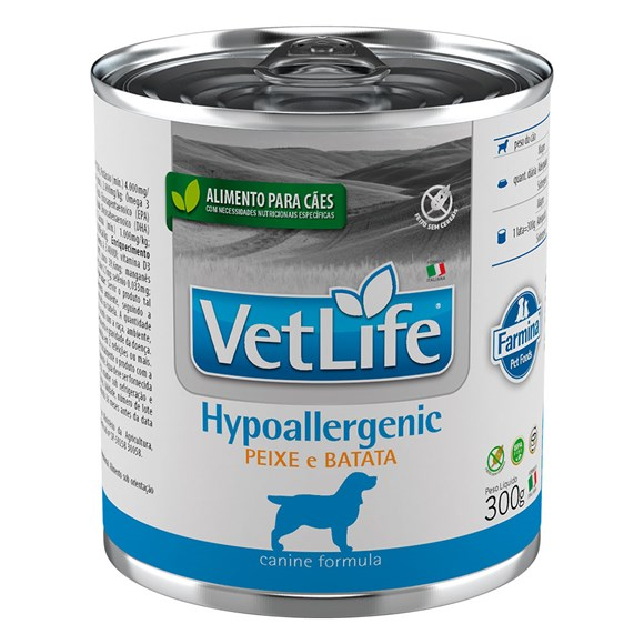 Ração Úmida Vetlife Cães Hypoallergenic Peixe – 300g