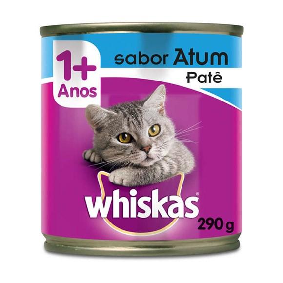 Ração Úmida Whiskas Lata Gatos Adultos Atum – 290g
