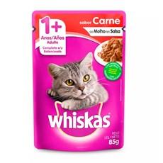 Ração Úmida Whiskas Sachê Gatos Adultos Carne ao Molho - 85g