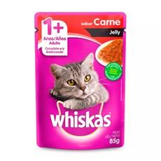 Ração Úmida Whiskas Sachê Gatos Adultos Carne Jelly - 85g