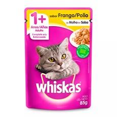 Ração Úmida Whiskas Sachê Gatos Adultos Frango - 85g