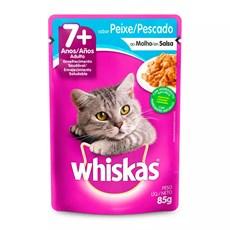 Ração Úmida Whiskas Sachê Gatos Adultos Sênior Peixe - 85g