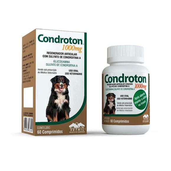 Regenerador Articular Para Cães Condroton 1000mg 60 Compr