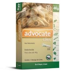Remédio Para Verme Pulga Sarna Advocate Para Cães Até 4kg