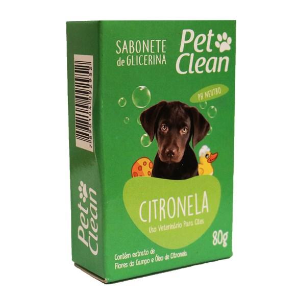 Sabonete Citronela Pet Clean – 80g