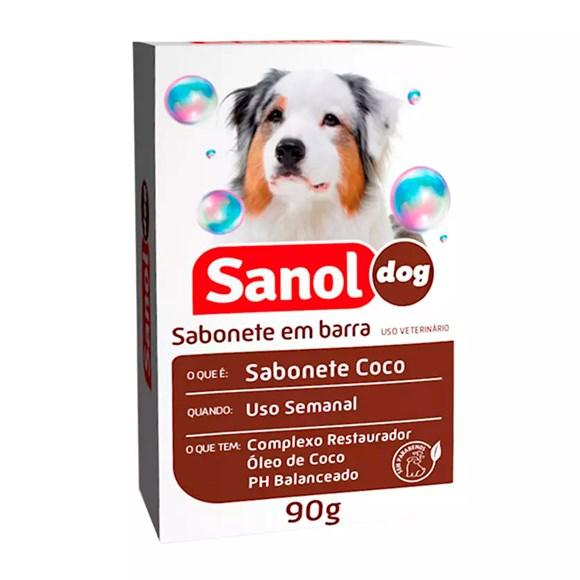Sabonete Sanol Dog Côco para Cães e Gatos - 90g