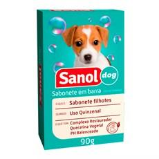 Sabonete Sanol Dog Filhotes para Cães e Gatos - 90g