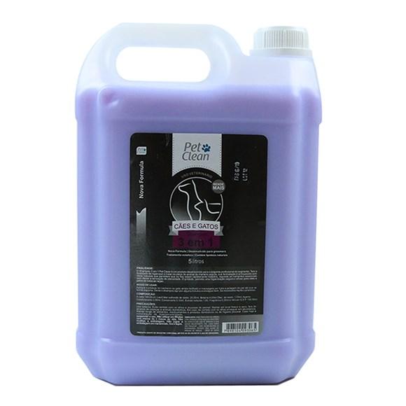Shampoo 3 em 1 Cães e Gatos Pet Clean - 5 Litros