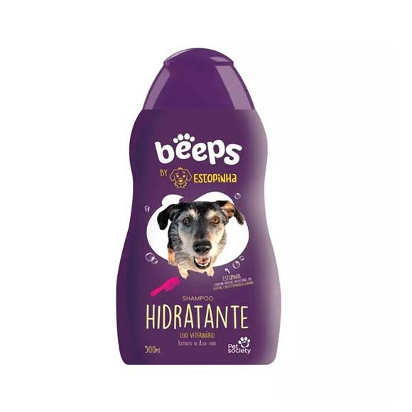 Shampoo Hidratante Beeps Estopinha Cães e Gatos Pet Society – 480mL