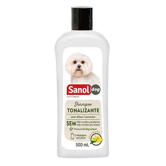 Shampoo Sanol Dog Tonalizante Pelos Claros - 500mL