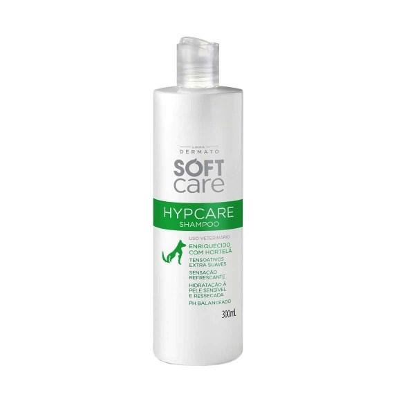 Shampoo Soft Care Hypcare Menta Caes E Gatos - 300ml