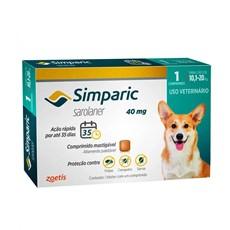Simparic Antipulgas e Carrapatos Cães 10,1 A 20Kg