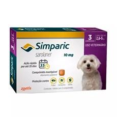 Simparic Antipulgas E Carrapatos Caes 2,6 A 5kg c/3 Comprimidos