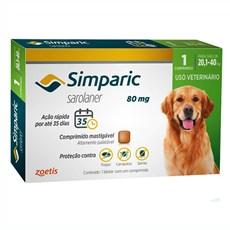 Simparic Antipulgas e Carrapatos Cães 20,1 A 40Kg