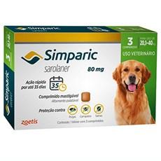Simparic Antipulgas e Carrapatos Cães 20 A 40kg c/3 Comprimidos