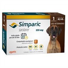 Simparic Antipulgas e Carrapatos Cães 40,1 A 60kg