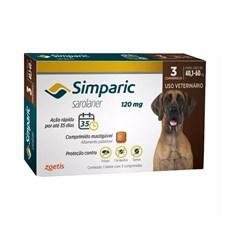 Simparic Antipulgas e Carrapatos Caes 40,1 a 60kg c/3 Comprimidos