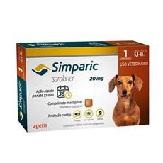Simparic Antipulgas e Carrapatos Cães 5,1 A 10kg