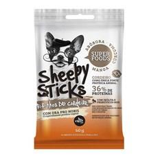 Snack Oh LáLá Cães Sheepy Sticks Manga, Abóbora e Cúrcuma – 50g