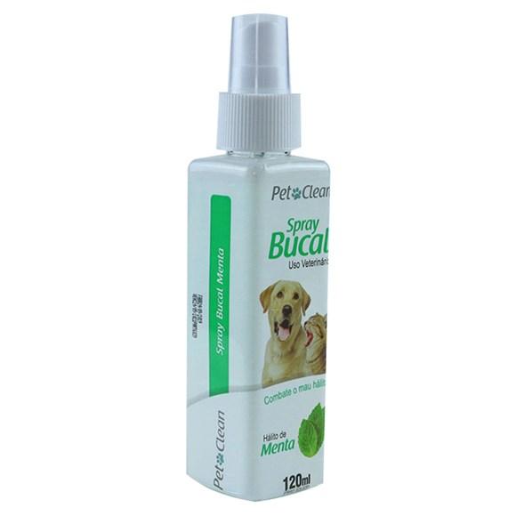 Spray Bucal Menta Caes e Gatos Pet Clean - 120 mL