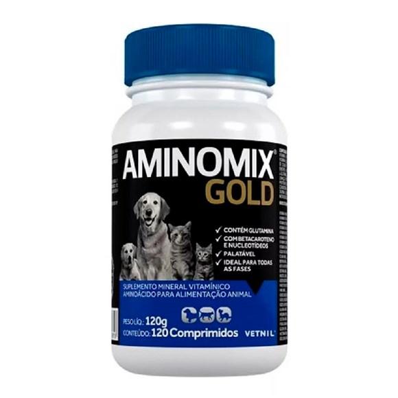Suplemento Aminomix Gold Caes E Gatos C/120 Comprimidos