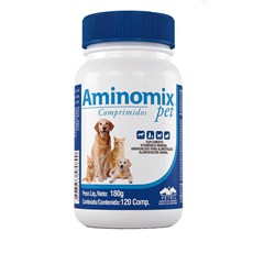 Suplemento Aminomix Pet Caes E Gatos C/120 Comprimidos